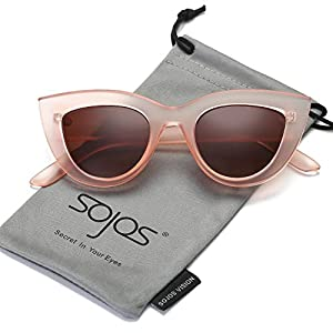 05e6b098ff29c SOJOS Retro Vintage Cateye Sunglasses for Women Plastic Frame Mirrored Lens  SJ2939SOJOS Retro Vintage Cateye Sunglasses f… 4.3 out of 5 stars782