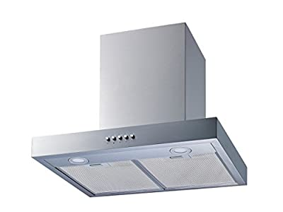Winflo 30 In. Convertible Stainless Steel Wall Mount Range Hood with Mesh Filters and Push Button Control