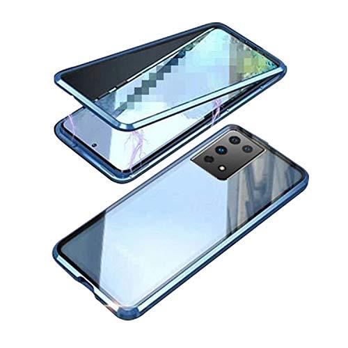 Galaxy S21 Ultra 5G ケース アルミバンパー 金属 メタル ギャラクシーS21 ウルトラ 持ちやすい 耐衝撃 クリア 両面強化ガラス 軽量 持ちやすい カバー 高級感があふれ 人気 メタルサイドバンパー[Galaxy S21 Ultra