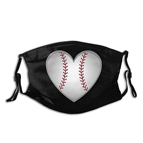 Máscara facial con estampado de béisbol reutilizable, con bolsillo de filtro, regalo unisex para hombres y mujeres, pasamontañas
