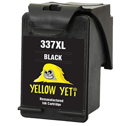 Yellow Yeti Remanufacturado 337 Cartucho de Tinta Negro para HP Photosmart 2500 2570 2573 2575 C4100 C4110 C4140 C4150 C4180 C4190 D5160 8049 Officejet 6300 6310 6313 6315 Deskjet D4160 5940