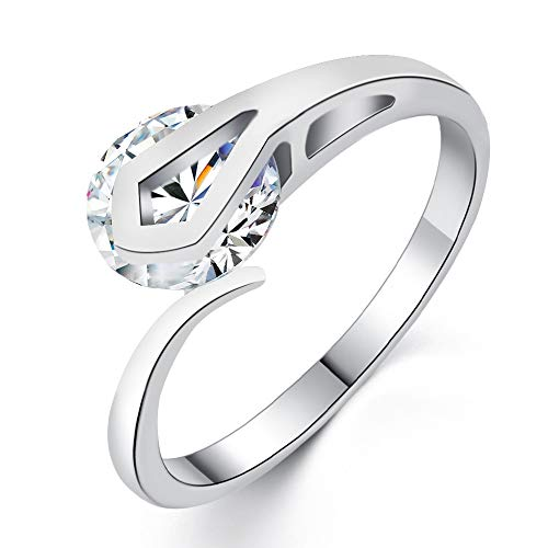 IWINO Luxe Kristallen Sieraden Accessoires Onregelmatige Zirkoon Verlovingsringen Verlovingsvrouwen Ringen Klassieke Wilde Vriendin Accessoires