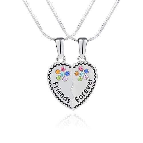 Cheerslife Beste Freundin Halskette für 2, Hypoallergenic Herzförmiger Anhänger Halskette für Memorial Friendship Elegantes Teen Girls Geschenke