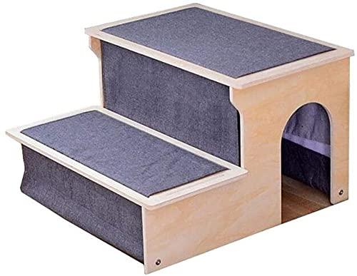 wsbdking Pet Treair Step Pet Treppen, Welpen auf dem Bett Leitern Waschbare ältere alte Hundeleiter Kleine Hundekissen Treppen