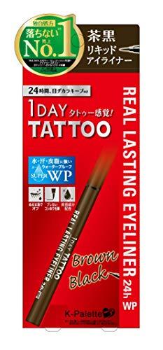 K-Palette Real Lasting Eyeliner 24h 1 Brown Black for Women, 0.018 Ounce