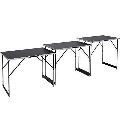 Multifunktionstische | 3000 x 600 mm | 3 tlg. | 4-fach Höhenverstellbar | 30 kg Tragkraft | Klappfunktion | Buffet | Flohmarkt | Werkstatt