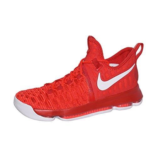 Zapatillas de baloncesto Nike Zoom KD 9 para hombre (11, rojo / blanco universitario)