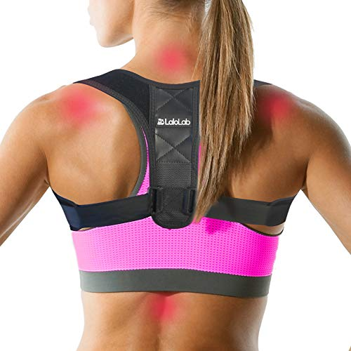 Posture Corrector for Women and Men by LaloLab – FDA Approved Adjustable Back Braces to Straighten Spine & Fix Posture - Comfortable & Invisible Under Clothes – Pain Relief for Neck & Back - Size S