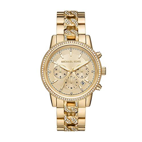 Michael Kors Damen Analog Quarz Uhr mit Edelstahl Armband MK6937