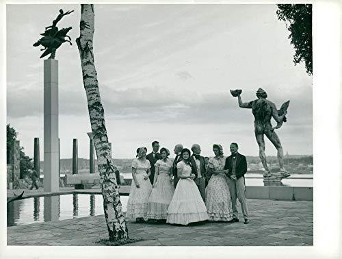 Disfraz Vintage de Foto de Folk Danza en el Siglo XIX en Millesgården – KFUM Noche