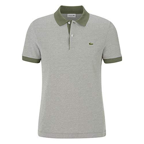 Lacoste Herren PH6781 Polo Shirt Kurzarm, Männer Polo-Hemd,2 Knopf, Regular Fit,AUCUBA/Flour(XH4),Medium (4)
