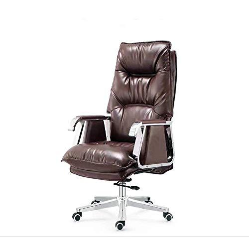 Videospielstuhl,Drehender ergonomischer ergonomischer Heimbürostuhl mit hoher Rückenlehne Liegend mit Fußstütze PU-Leder Executive Computer Schreibtisch Bürostuhl mit Rückenlehne