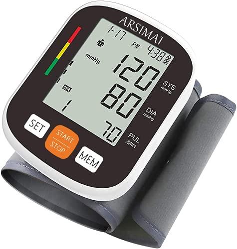Misuratore di Pressione da Polso - Sfigmomanometro da polso,bracciale regolabile + batteria 2AAA +...