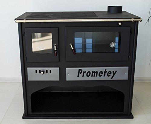 Horno de estufa de leña con cristal PROMETEY 11 kW - PRAKTIK - LUX