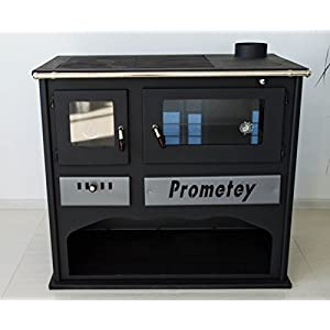 Horno de cocina de leña con vidrio PROMETEY 11 kW – PRAKTIK – LUX