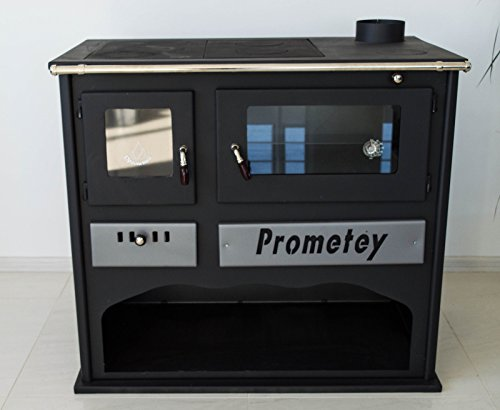 Horno de cocina de leña con vidrio PROMETEY 11 kW - PRAKTIK