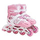 Inline Skates, Adjustable Inline Roller Skates Triskates Roller Blades for Kids, Teens, Adult, Women