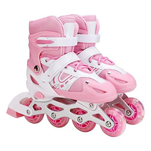 BOQIAN 3 in 1 Inliner Kinder, Kinder einstellbare Rollschuhe Eisschuhe, Triskates und Rollschuhe für Kinder verstellbare Rollkates Eisschuhe