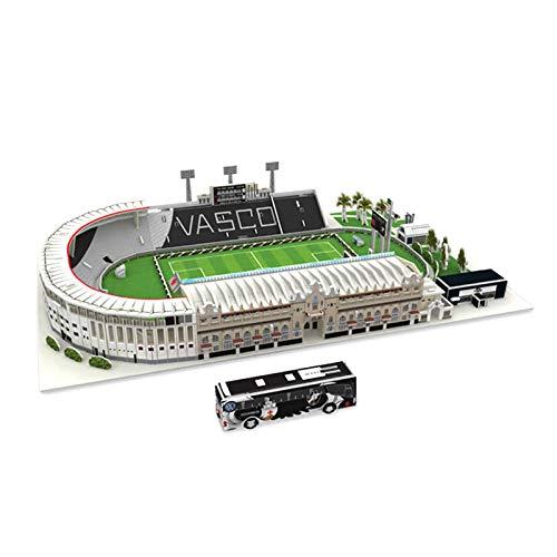 LYing Brasile Vasco da Gama Stadio di Calcio Stadio di Calcio in Cartone Puzzle 3D, Carta Fatta a Mano Stampo Stampo di Carta Puzzle Giocattolo da Collezione per i Tifosi di Calcio Souvenir.