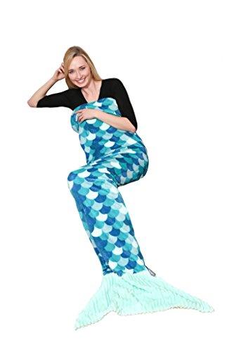 Kanguru Decke, Motiv Meerjungfrau, Einheitsgröße, Türkis 200 grün