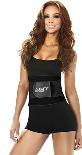 New Ann Chery 2051- Latex Fit Women's Waist Trainer & Lumbar Support Belt - Black, X-Large / 38