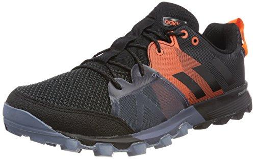 Adidas Kanadia 8.1 TR m, Zapatillas de Trail Running para Hombre, Negro (Carbon/Core Black/Orange 0), 45 1/3 EU