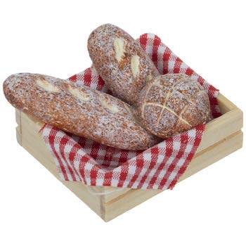 Miniature French Bread In Crate Doll Play House Mini Town Project