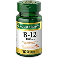 100-Tablets Nature's Bounty Vitamin B12 (1000mcg)