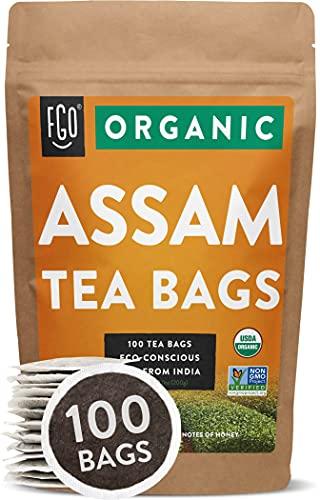 Organic Assam Tea Bags   100 Tea Bags   Eco-Conscious Tea Bags in Kraft Bag   by FGO