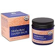 Motherlove Diaper Balm (1oz) Organic Diaper Cream—Zinc Oxide- & Petroleum-Free—Cloth Diaper Safe Ointment Soothes Diaper Rash Irritation & Restores Yeast Balance—USDA Organic, Non-GMO, Cruelty-Free