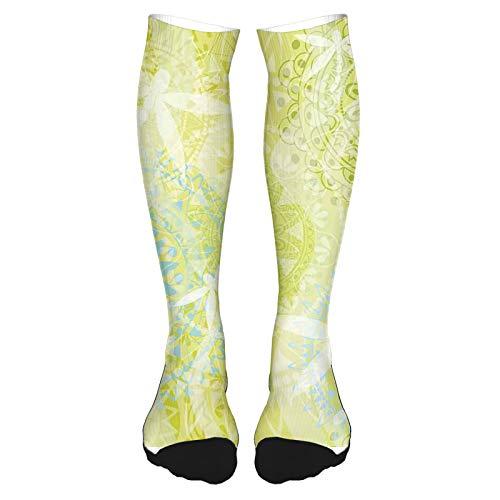 Calcetines altos de algodón para el muslo 2021, varios florecientes de primavera, prado, flores suaves, diseño femenino, romántico, largo hasta la rodilla, para hombre y mujer