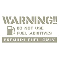 imoninn 給油口ステッカー デザインA 【油種/ハイオク、プレミアム】 (グレー色)
