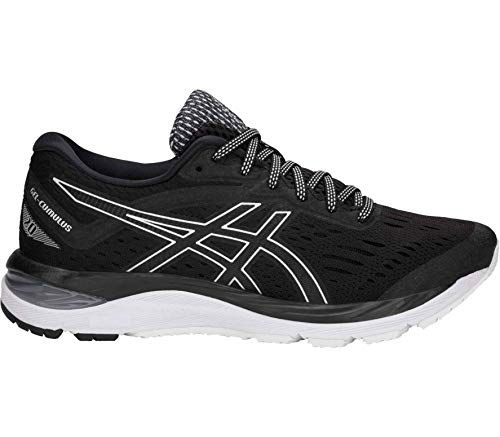 Asics Gel-Cumulus 20 Mujeres Running Trainers 1012A008 Sneakers Zapatos (UK 6.5 US 8.5 EU 40, Black White 001)
