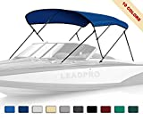 Leadpro 10 Optional Colors 13 Different Sizes 3-4 Bow Bimini Top Boat Cover (Pacific Blue, 3 Bow 6'L x 46' H x 54'-60' W)