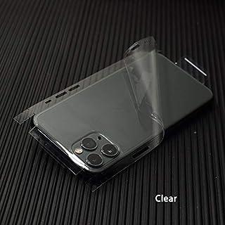 SCBJBZ Transparente 3D Fibra de Carbono Pieles película Envoltura Piel teléfono Pegatina Trasera para iPhone 11 Pro XS MAX XR X 8 7 6 6S más Pegatina Transparente para iPXS Claro
