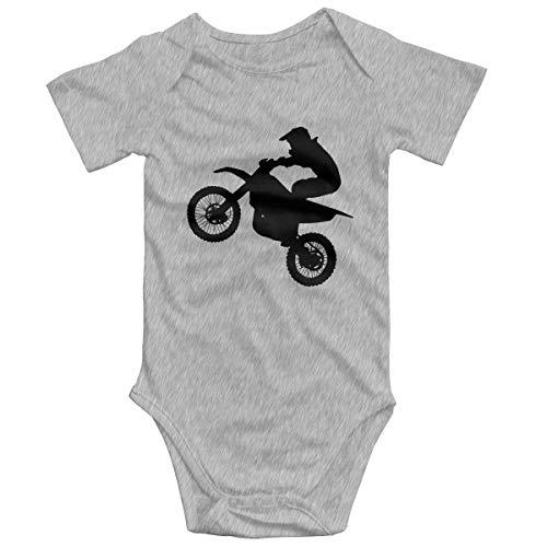 SOSOCUTE Gray Unisex Baby Jersey Bodysuit Cool Motocross Funny Jumpsuits Sleepwear 2T