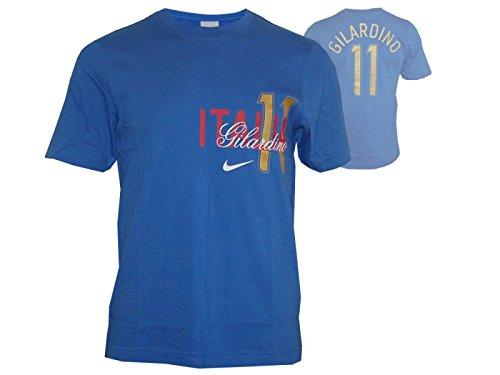 Nike Italië #11 Tee Gilardino Italia T-shirt fan shirt blauw