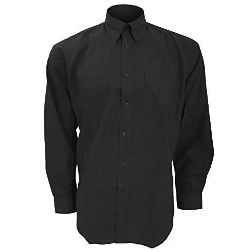 Chemise à manches longues Kustom Kit pour homme (Tour de cou 46cm) (Noir)