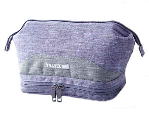 Kintone Trousse à Maquillage Unisexe Grand Volume Imperméable Sac de Rangement Voyage Portable (Violet)
