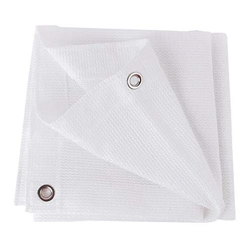 Shade Net LDFZ Luifel wit 6-polig met oog, 80% zonwering, ademende stof voor rolgordijnen, tuin, buitenkleding, balkon, tuin