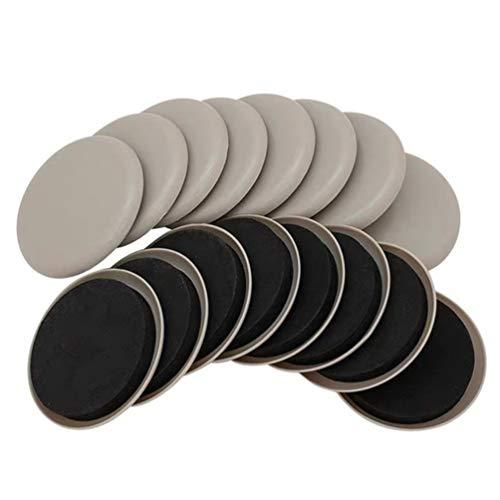 Angoily 16Pcs Möbel Sliders Wiederverwendbare Möbel Bein Pads Möbel Mover Glide Einfach Bewegen Möbel Moving Kit Boden Protector für Harte Boden Oberfläche 3. 5 Zoll