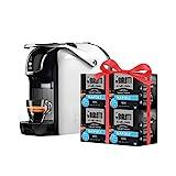 Bialetti Break - Macchina Caffè Espresso a Capsule in Alluminio con sistema Bialetti il Caffè d'Italia, Design compatto, Include 64 capsule in omaggio, Bianco