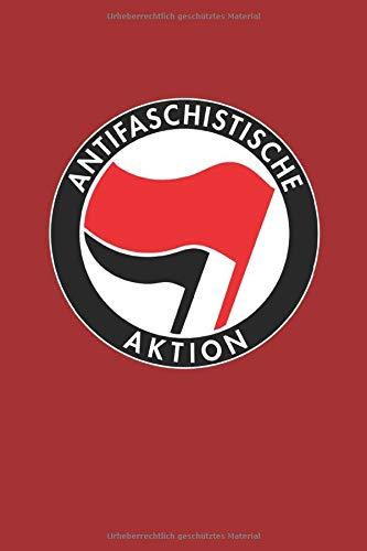 Antifaschistische Aktion: Notizbuch, kariert, 117 Seiten, A5 (German Edition)