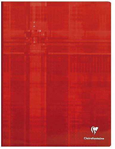 Clairefontaine 69341C - Cuaderno cosido (Lomo de tela) A4 MAXI rayado francés (Séyès) de 192 páginas (96 hojas), colores surtidos, 1 unidad
