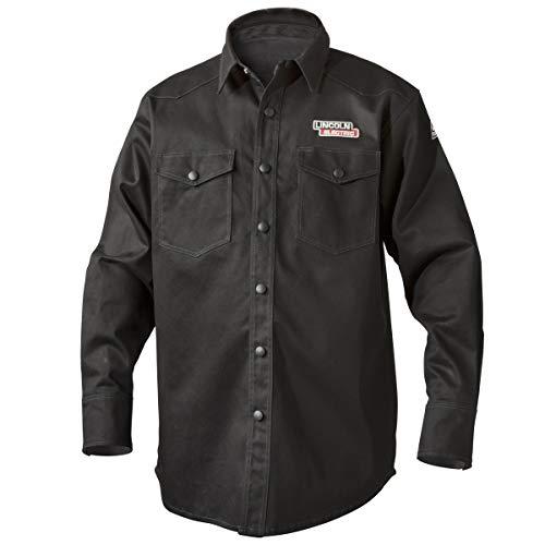 Lincoln Electric K3113-XL Welding Shirt, Premium Flame Resistant (FR) Cotton, Custom Fit, Black, XL
