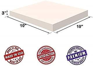Upholstery Visco Memory Foam Square Sheet- 3.5 lb High Density 3