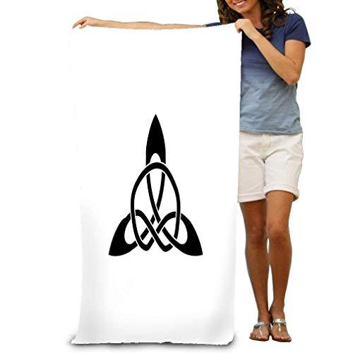 HUTTGIGHT Strandhandtuch, weich, schnell trocknend, leicht, hohe Saugfähigkeit, Pool-Spa-Tuch für Damen und Herren, 79 x 130 cm, antikes Zeichen Kelten Wikinger ideal für Ihr Design