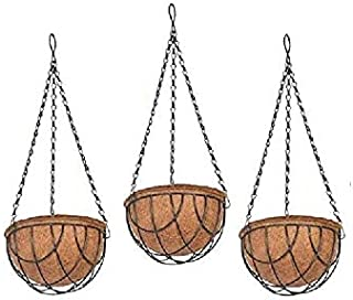 COIR GARDEN Water Hanging Basket 6 INCH 3 Pieces - Hanging Basket- Flower POTS Hanger Garden Decoration Indoor and Outdoor