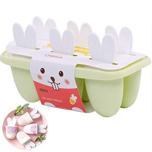 QYY Eisformen 6 Eisformen Popsicle Formen Set, EIS am Stiel Bereiter, LFGB Geprüft und BPA Frei,Eisform Silikon DIY Ice Pop Lolly Popsicle spülmaschinenfest