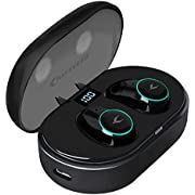 MYCARBON Wireless Headphones Touch Control Bluetooth 5.0 Wireless Earbuds IPX5 Waterproof Stereo Sound Bluetooth Earphones with Portable Charging Box
